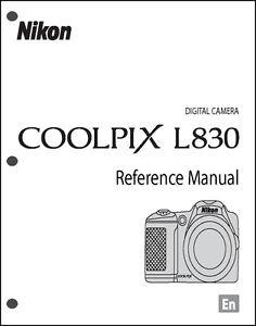 nikon coolpix l830 digital camera user guide instruction manual ebay rh ebay com