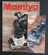 MAMIYA 7 AND 7II BROCHURES SET OF 2