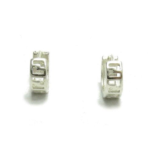Silber Ohrringe 925 Mäander E000535