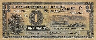 EL SALVADOR 1 COLON 3-6-1982 P 133A 133 UNC