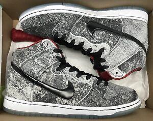 new product 0ed49 22557 Image is loading Nike-Dunk-High-Premium-SB-Salt-Stain-Black-