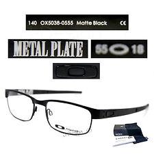 Authentic Oakley METAL PLATE OX5038-0555 Matte Black Titanium Eyeglasses New