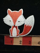 White & Red FOX Patch ~ Bushy Tail 67WS