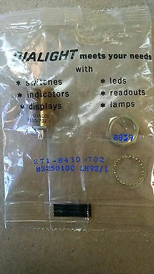 1 EA NOS DIALIGHT INDICATOR LIGHT HOLDER USED ON VARIOUS AIRCRAFT P//N LH90//1