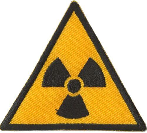 Ecusson patche Radioactif Nucléaire thermocollable patch brodé