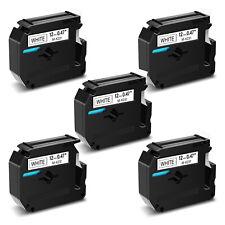 5pk Tape Label M K231 Mk231 M231 Black On White For Brother P Touch Pt 55 Pt70