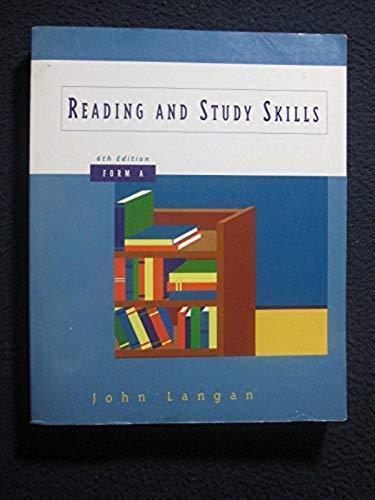 Reading and Study Skills, Form A [Oct 01, 1997] Langan, John