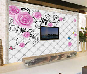 3D pinks Vines 5066 Wallpaper Murals Wall Print Wallpaper Mural AJ WALL UK Jenny