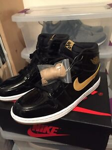 low priced db4b7 8a985 Details about JORDAN BLACK AND GOLD 1s NIKE