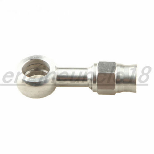 """Stainless Steel 10.2mm 3//8/"""" Eye Banjo To AN-3 AN3 3AN Hose End Brake Fittings"""