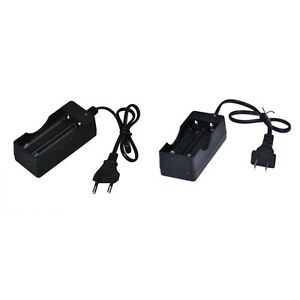 Dual Charger For 18650 3.7V Rechargeable Li-Ion Battery EU Plug Free Shipping