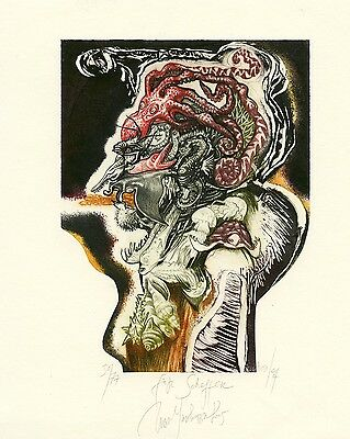 """After Arcimboldo"" Metamorphosis Ex libris Etching by Iva Tsankova"