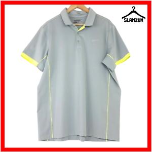 Nike-Herren-Golf-Tour-Performance-Dri-Fit-Polo-Shirt-XL-GRAU-NEON-LEICHT
