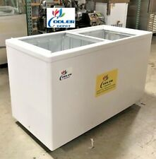 "NEW 53/"" x 26/"" x 34/"" Glass Top Chest FreezerGelato Ice Cream Dipping Cabinet NSF"