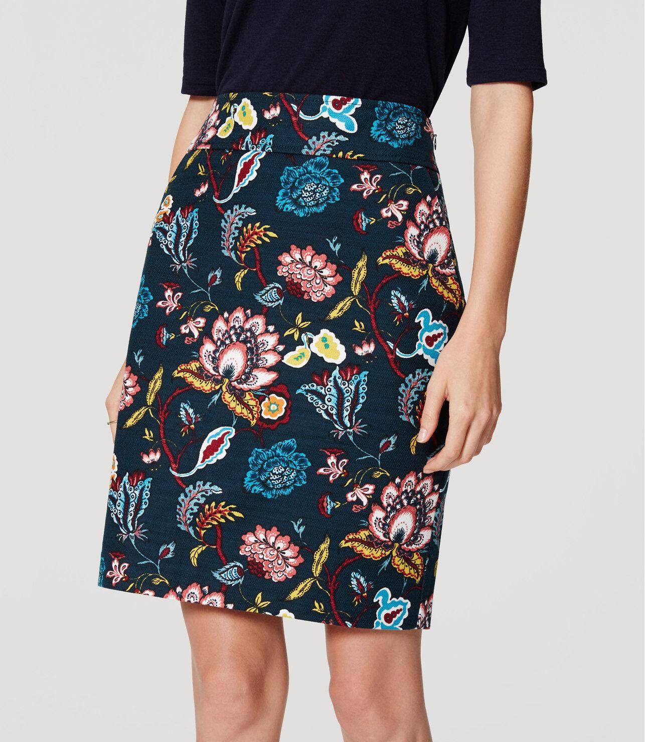 Ann Taylor LOFT Garden Pencil Skirt Size 0. 10 NWT Deep Sea Teal color