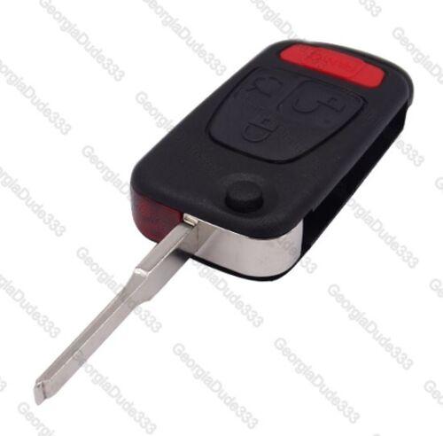 Crossfire Mercedes Benz Flip Remote Key Fob Shell Case /& Blade Some ML320,SLK