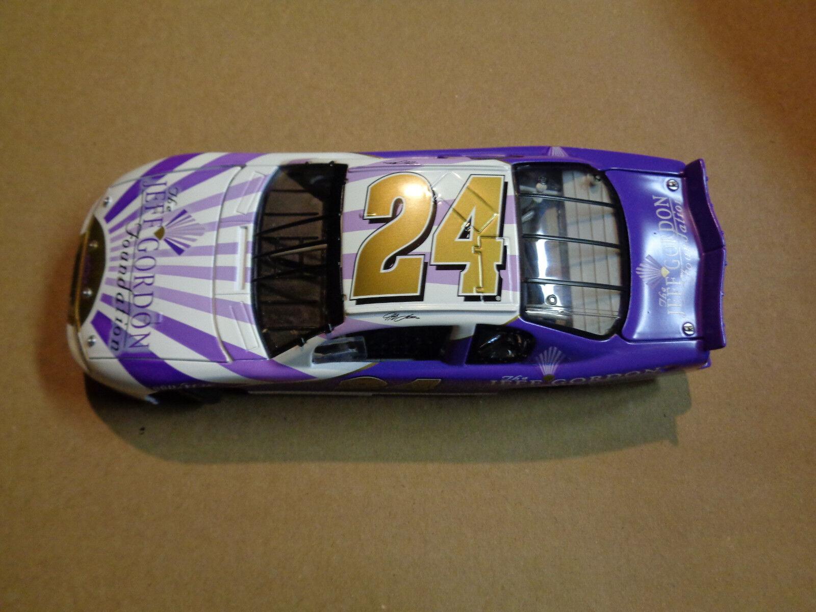 ahorra hasta un 70% Nuevo púrpuraa Y blancoo Jeff Gordon Gordon Gordon 2001 Monte Cochelo Fundación Diecast 1 24 Race Coche  punto de venta barato
