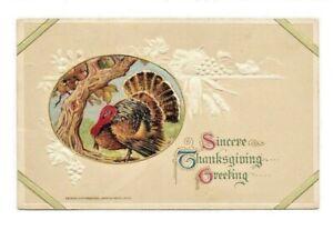 Antique-Vintage-PostCard-Thanksgiving-Artist-Signed-Winsch-1913-Posted-EUC