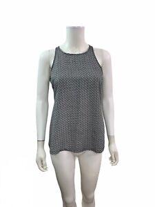 Old-Navy-Women-s-Size-XS-Sleeveless-Round-Neck-Black-White-Blouse