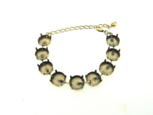 EB 112 14mm RoundClassic Nine Setting DIY Bracelet BaseThree Pieces