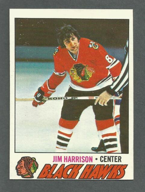 1977-78 Topps Hockey Jim Harrison #243 Chicago Black Hawks NM/MT