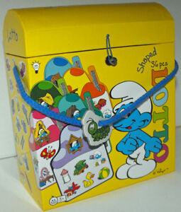 Smurf-Lotto-Memo-Game-36-Pieces-New-in-Box-For-Ages-3-and-up