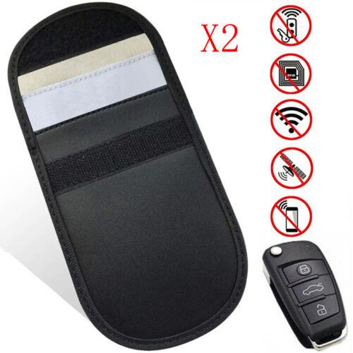 SMALL 2x CAR KEY CARD SIGNAL BLOCKER FOB POUCH CASE KEYLESS BAG FARADAY CAGE UK