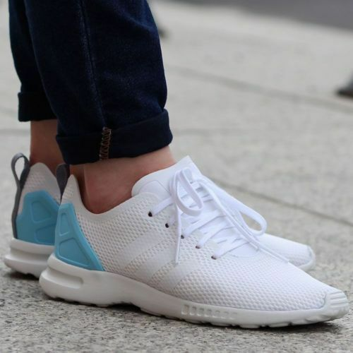Adidas ZX Flux ADV Smooth Blanc Bleu Trainers - Femme5