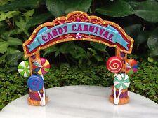 Miniature Dollhouse FAIRY GARDEN ~ Candy CARNIVAL Banner Arch