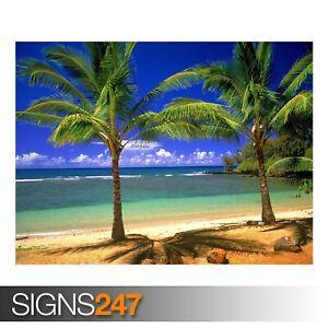 TROPICAL-LAGOON-3307-Beach-Poster-Picture-Poster-Print-Art-A0-A1-A2-A3-A4