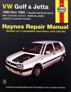 haynes repair manual vw golf and jetta 1993 thru 1998 by john h rh ebay com 2008 vw jetta repair manual pdf 2008 vw jetta repair manual download