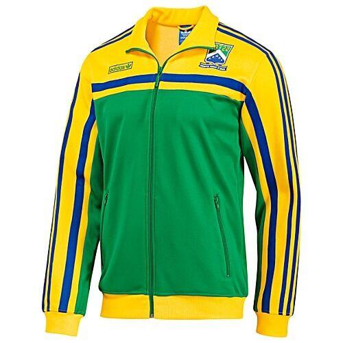 NW~Adidas Originals BRAZIL firebird Track Top sweat shirt Jacket Brasil~Men sz M