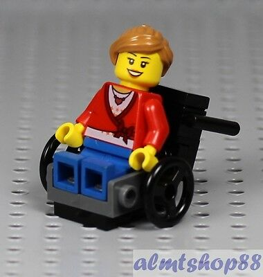 LEGO Girl Minifigure in Wheelchair Female Patient Vehicle Hospital City Town