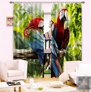 3D dos cortinas de impresión de cortina de foto Parrojo Blockout Tela Cortinas Ventana au