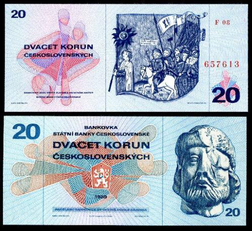 CZECHOSLOVAKIA 20 KORUN 1970 P 92 UNC