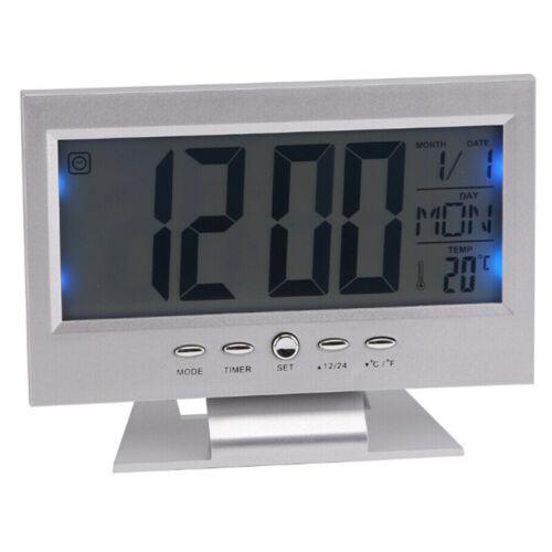 LCD Digital Wecker Snooze Alarmwecker Tischuhr Kinderwecker Uhr Reisewecker DE