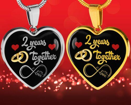 Personnalisé Gravé 2nd Anniversaire de mariage cadeau pour elle Mariée depuis 2 ans