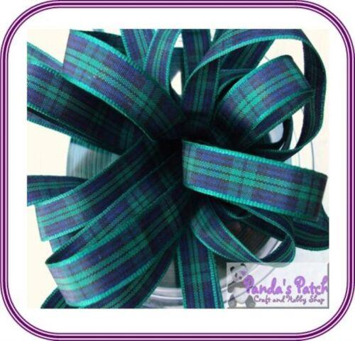 Berisfords 70mm tartán poliéster Cinta 9 colores elegir Longitud-Free UK Post