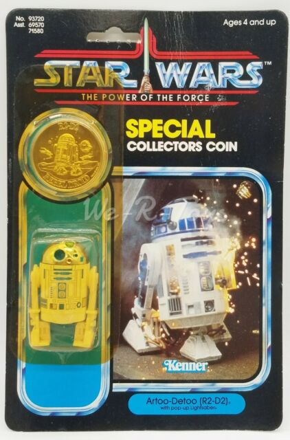 Star Wars POTF 1984 Kenner R2-D2 w/ Pop-Up Lightsaber 62 Back #93720 NRFP