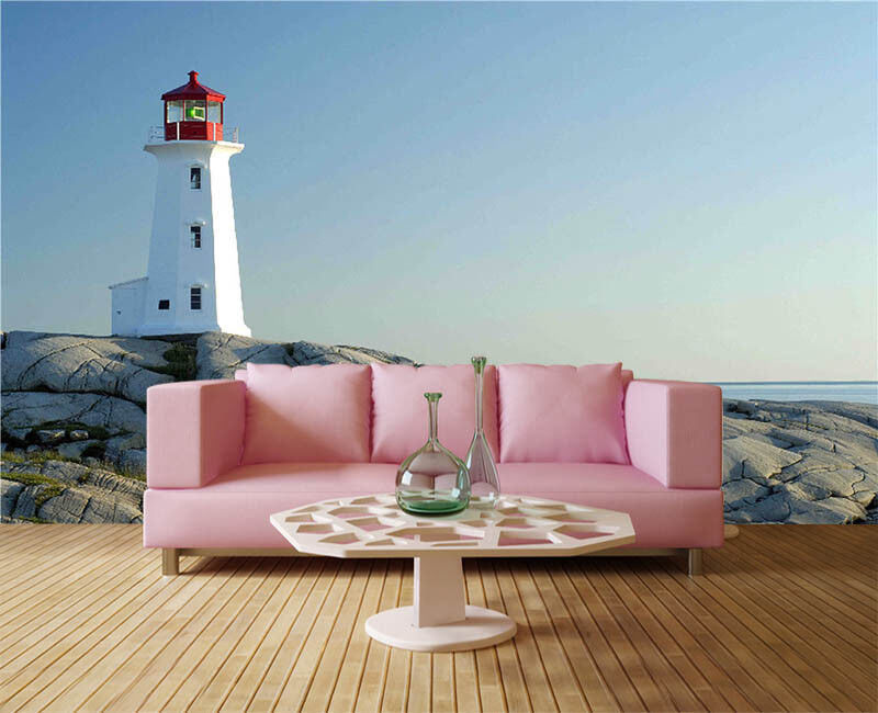 Keen Fade Lighthouse 3D Full Wall Mural Photo Wallpaper Printing Home Kids Decor