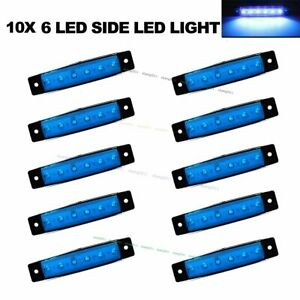10X-Blue-6-LED-Side-Marker-Lights-for-Car-Lorries-Buses-Truck-Trailer-Clearance