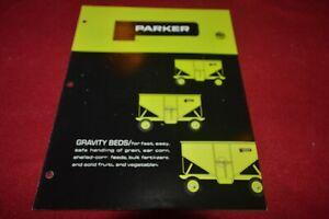 Parker 2200 Gravity Beds Wagons Box Brochure FCCA