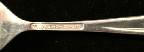 Reed And Barton Silver Sculpture Salad Fork Sterling Silver Flatware