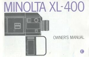 Minolta XL-400 Instruction Manual Original