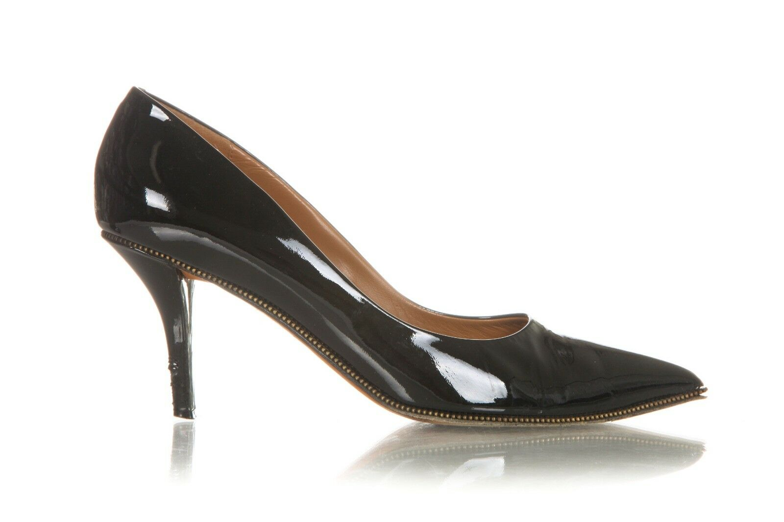 GIVENCHY Pumps 39 8.5 Patent Leather Black Shiny Stiletto Heels