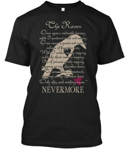 Edgar-Allan-Poe-The-Raven-Once-Upon-A-Midnight-Hanes-Tagless-Tee-T-Shirt