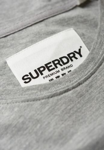 Superdry T-Shirt Damen PREMIUM BRAND REFLECTION PORTLAND Grey Marl