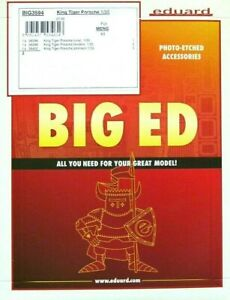 Eduard-Big-Ed-1-35-King-Tiger-Porsche-Tank-Upgrade-Set-for-Meng-Model-Kit