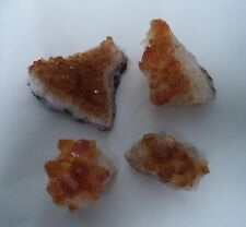 Natural Citrine Rough Crystal Cluster from Brazil: 1/2 lb (4 pieces per lot)
