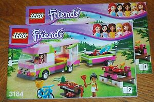 lego bauanleitung instruction manual friends 3184 adventure camper ebay. Black Bedroom Furniture Sets. Home Design Ideas